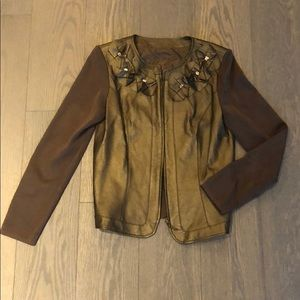 Jackets & Blazers - Leather and cloth jacket